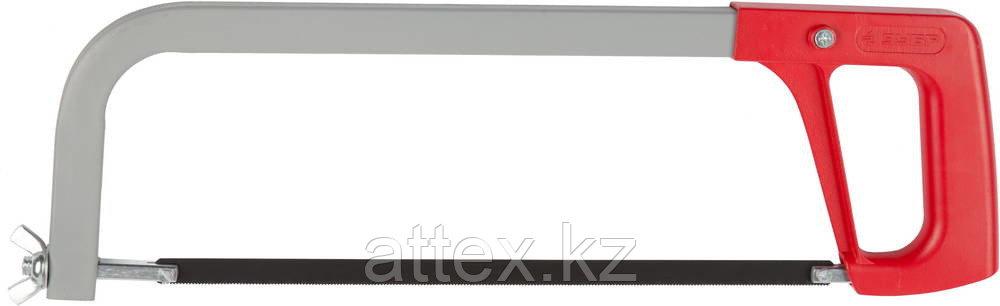 Ножовка по металлу ЗУБР МХ-200, усиленная рамка, металлическая ручка, натяжение 65 кг, 300 мм  15765_z01