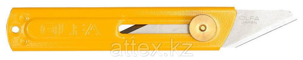 Нож OLFA хозяйственный металлический корпус, с выдвижным 2-х сторонним лезвием, 18мм OL-CK-1