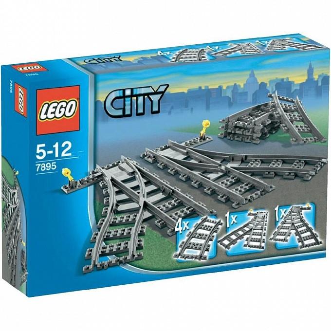 7895 Lego City Железнодорожные стрелки, Лего Город Сити