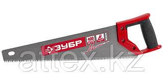 Ножовка по дереву (пила) ЗУБР МОЛНИЯ-5 400 мм, 5 TPI, прямой крупный зуб, быстрый рез поперек волоко  15075-40_z01