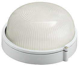 Светильник уличный СВЕТОЗАР влагозащищенный, круг, цвет белый, 60Вт SV-57251-W