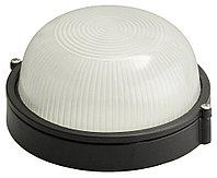 Светильник уличный СВЕТОЗАР влагозащищенный, круг, цвет черный, 60Вт SV-57251-B
