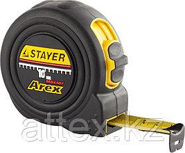 """Рулетка STAYER """"PROFI"""" """"AREX"""", двухкомпонентный противоударный корпус, упрочненное полотно, 10м/25мм  3410-10_z01"""