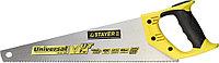 Ножовка универсальная (пила) STAYER Universal 400 мм, 7 TPI, закаленный зуб, рез вдоль и поперек вол  1510-40_z01