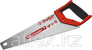 Ножовка универсальная (пила) ЗУБР МОЛНИЯ-7 350 мм, 7 TPI, закалка, рез вдоль и поперек волокон, для  1537-35_z01