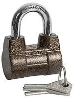 """Замок навесной ЗУБР """"МАСТЕР"""" облегченный, дисковый механизм секрета, ключ 7 PIN, дужка d-10мм, 60мм 3720-4_z01"""