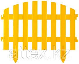 """Забор декоративный GRINDA """"АР ДЕКО"""", 28x300см, желтый 422203-Y"""