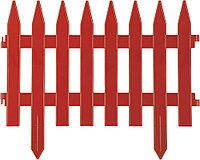 """Забор декоративный GRINDA """"КЛАССИКА"""", 28x300см, терракот 422201-T"""
