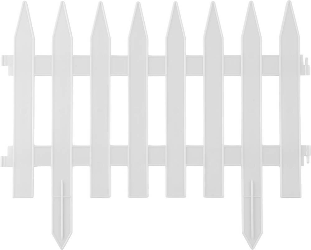 "Забор декоративный GRINDA ""КЛАССИКА"", 28x300см, белый 422201-W"