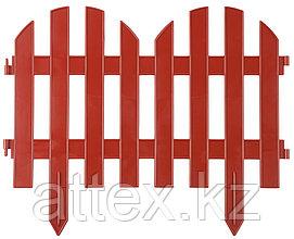 "Забор декоративный GRINDA ""ПАЛИСАДНИК"", 28x300см, терракот 422205-T"