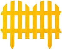 """Забор декоративный GRINDA """"ПАЛИСАДНИК"""", 28x300см, желтый 422205-Y"""