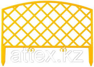 """Забор декоративный GRINDA """"ПЛЕТЕНЬ"""", 24x320см, желтый 422207-Y"""