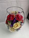 Живые цветы в стекле VSR5c, фото 3