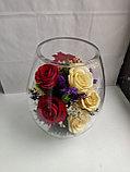 Живые цветы в стекле VSR5c, фото 4