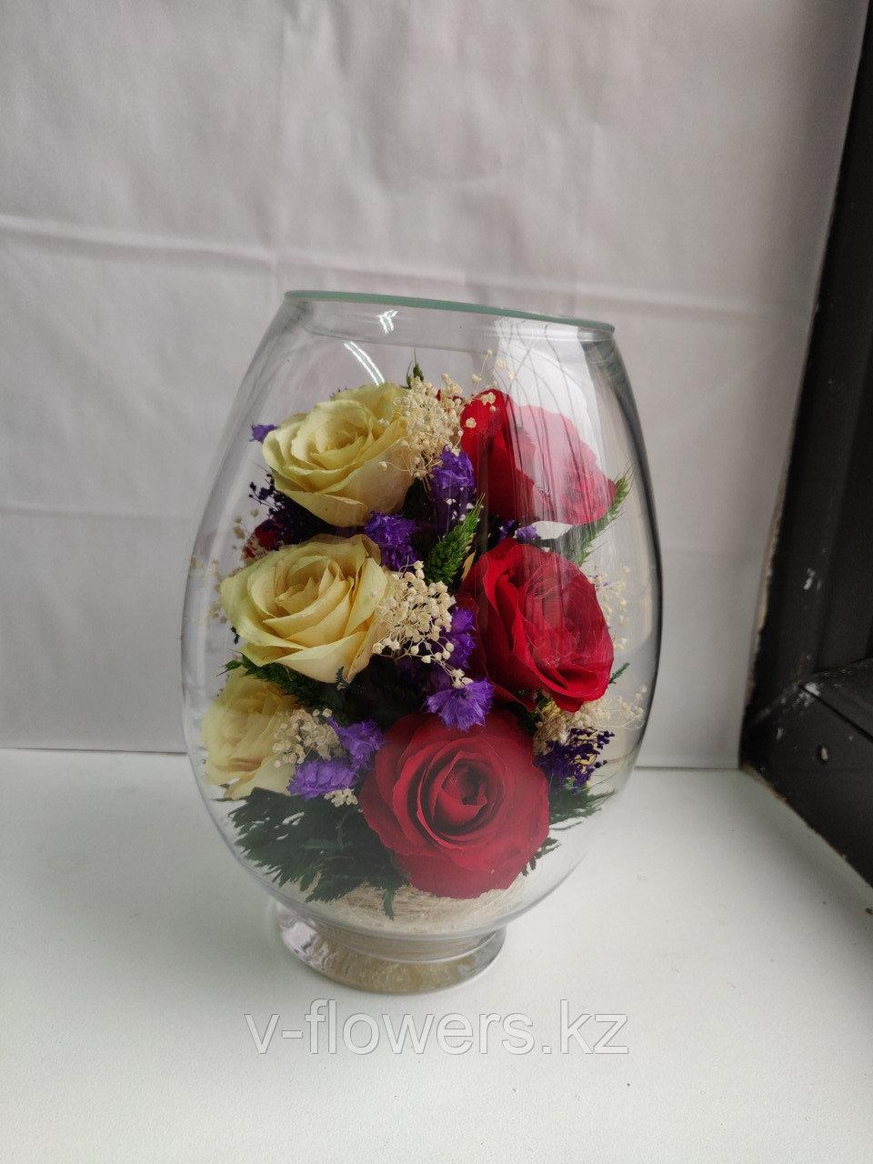 Живые цветы в стекле VSR5c