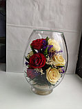 Живые цветы в стекле VSR5c, фото 2