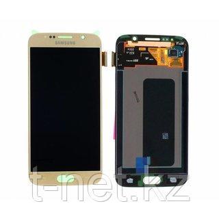 Дисплей Samsung Galaxy S6 SM-G920 Сервис Оригинал с сенсором, цвет золотистый