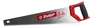 Ножовка по дереву (пила) ЗУБР МОЛНИЯ-5 500 мм, 5 TPI, прямой крупный зуб, быстрый рез поперек волоко  15075-50_z01