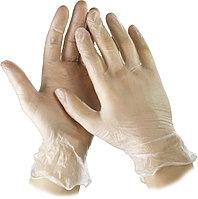 """Перчатки STAYER """"MASTER"""" виниловые экстратонкие, XL, 100шт 11207-XL"""