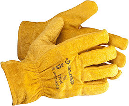 """Перчатки ЗУБР """"МАСТЕР"""" кожаные рабочие, с подкладкой, XL 1135-XL"""