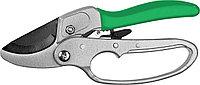Секатор, РОСТОК 423008, с храповым механизмом и алюм. ручками, рез до 18мм, 200мм, фото 1