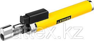 "Газовая горелка-карандаш ""MaxTerm"", STAYER ""MASTER"" 55560, с пьезоподжигом, регулировка пламени, 110"