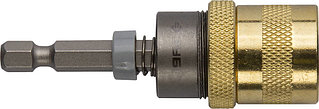 """Адаптер ЗУБР """"ЭКСПЕРТ"""" магнитный для бит, фиксатор, ограничитель глубины вворачивания шурупов, 60мм 26753-60"""