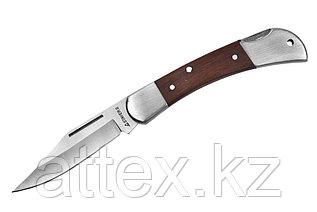 Нож STAYER складной с деревянными вставками, средний  47620-1_z01