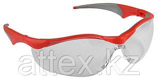 """Очки ЗУБР """"МАСТЕР"""" защитные, прозрачные, поликарбонатная монолинза с мягкими двухкомпонентными дужками 110320"""