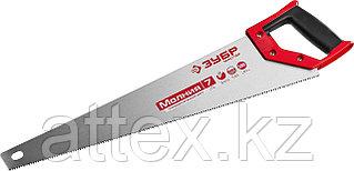 Ножовка универсальная (пила) ЗУБР МОЛНИЯ-7 500 мм, 7 TPI, закалка, рез вдоль и поперек волокон, для  1537-50_z01