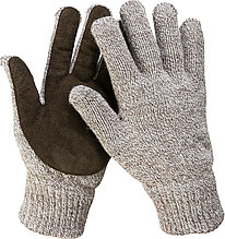 Перчатки утепленные Полюс, с флисовой подкладкой и спилковым наладонником, акрил+полушерсть, L-XL, З  11468-XL