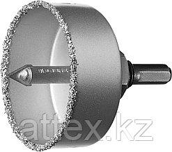 """Коронка-чашка ЗУБР """"ПРОФЕССИОНАЛ"""" c карбид-вольфрамовым нанесением, 67 мм, высота 25 мм, в сборе с д  33360-067_z01"""