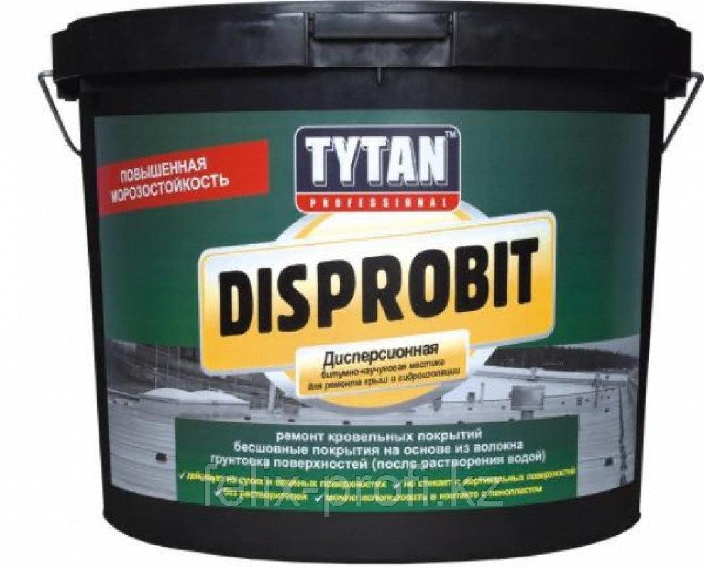 TYTAN DISPROBIT мастика дисперсионная битумно-каучуковая для ремонта крыш и гидроизоляции (20 кг) пласт.тара