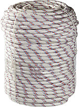 Фал плетёный полипропиленовый СИБИН 24-прядный с полипропиленовым сердечником, диаметр 12 мм, бухта 100 м, 1000 кгс 50215-12