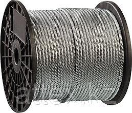 Трос стальной, оцинкованный, DIN 3055, d=2 мм, L=200 м, ЗУБР Профессионал 4-304110-02