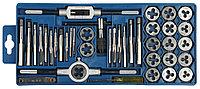 """Набор ЗУБР """"МАСТЕР"""" с металлореж. инструментом, метчики однопроходные и плашки М3-М12, оснастка - в 2810-H40_z01"""