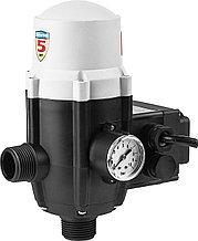 """Блок автоматики, ЗУБР ЗБА, 1"""", давление срабатывания 1.5 Атм,макс мощность подключаемых насосов 1.1 кВт"""