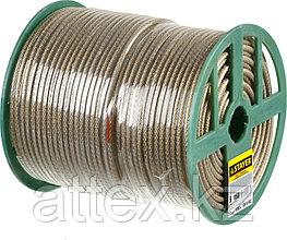 Трос стальной в полимерной оболочке, d=6,0 мм, L=150 м, STAYER Master 30410-60