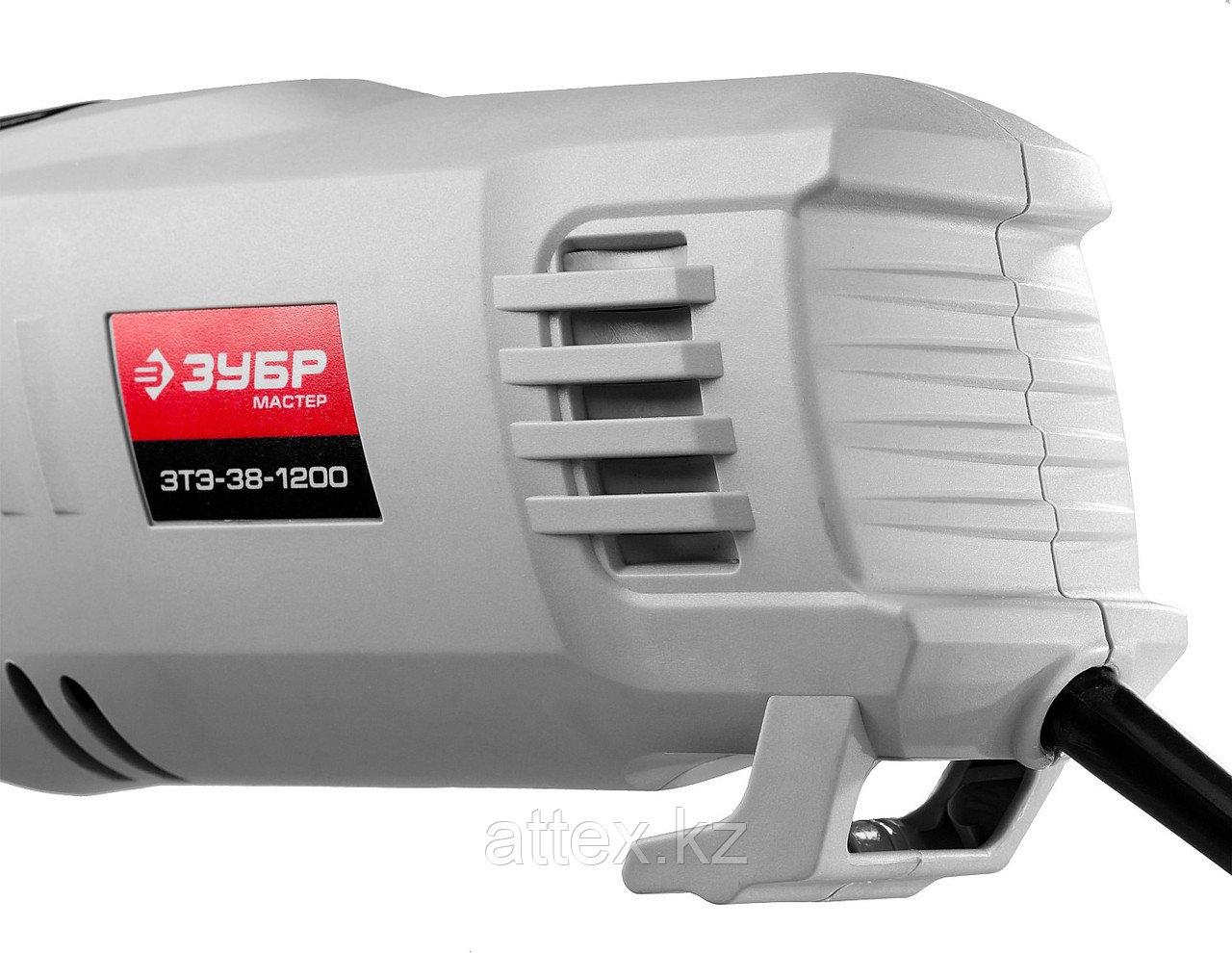 Триммер ЗУБР электрический, с верх двигателем, ш/с 380мм, леска 5*2мм, полуавтомат, 1200Вт ЗТЭ-38-1200 - фото 8