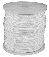 Шнур ЗУБР полиамидный, плетеный, повышенной нагрузки, с сердечником, белый, d 5, катушка 700м 50310-05-700