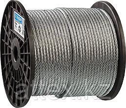 Трос стальной, оцинкованный, DIN 3055, d=6 мм, L=120 м, ЗУБР Профессионал 4-304110-06