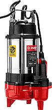 Насос фекальный погружной, ЗУБР НПФ-450, 450 Вт, пропускная способность 250 л/мин, напор 12 м, чугун
