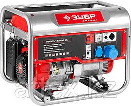 Генератор ЗУБР бензиновый, 4-х тактный, ручной пуск, 4500/4000Вт, 220/12В ЗЭСБ-4500