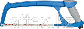 Ножовка по металлу ЗУБР ПРО-500, цельнолитая, обрезиненная рукоятка, натяжение 100 кг, 300 мм  15776_z01