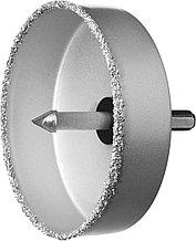 """Коронка-чашка ЗУБР """"ПРОФЕССИОНАЛ"""" c карбид-вольфрамовым нанесением, 102 мм, высота 25 мм, в сборе с  33360-102_z01"""