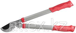 Сучкорез GRINDA с тефлоновым покрытием, стальные ручки, рычаг с зубчатой передачей, 465мм  8-424103_z01