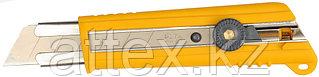 Нож OLFA с выдвижным лезвием, с противоскользящим покрытием, фиксатор, 25мм OL-NH-1