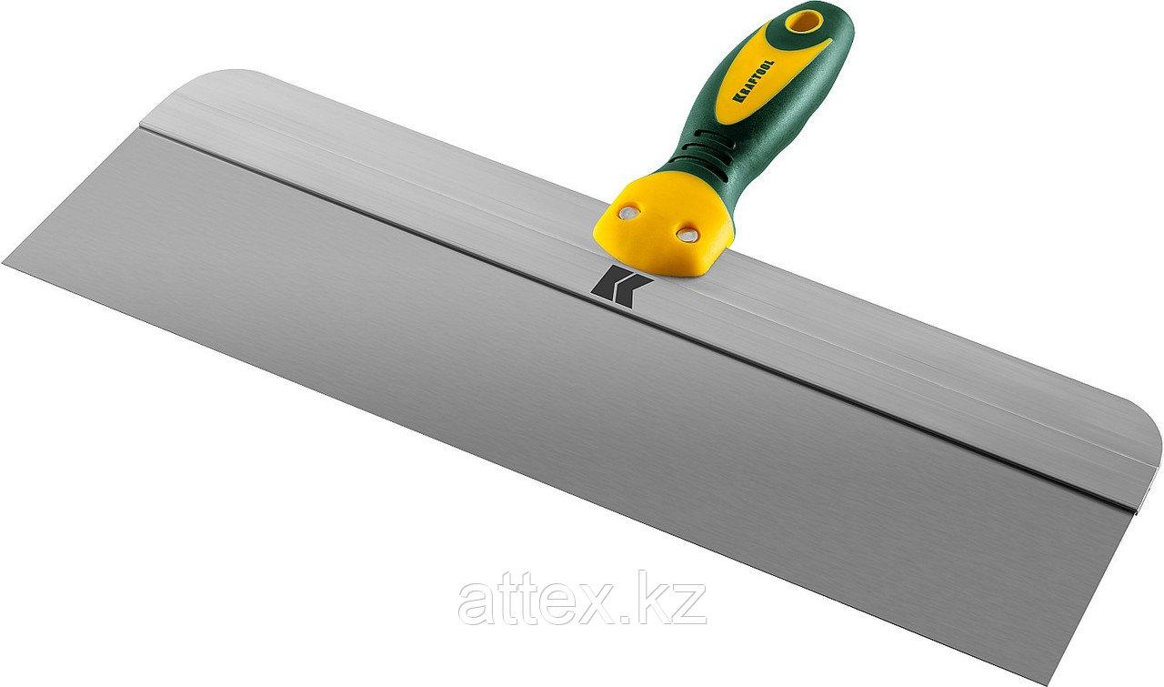 Шпатель KRAFTOOL фасадный с двухкомпонентной ручкой, нержавеющее полотно, 400мм 10036-400