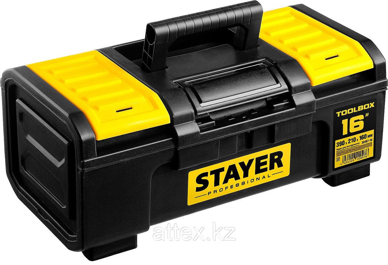"""Ящик для инструмента """"TOOLBOX-16"""" пластиковый, STAYER Professional 38167-16"""
