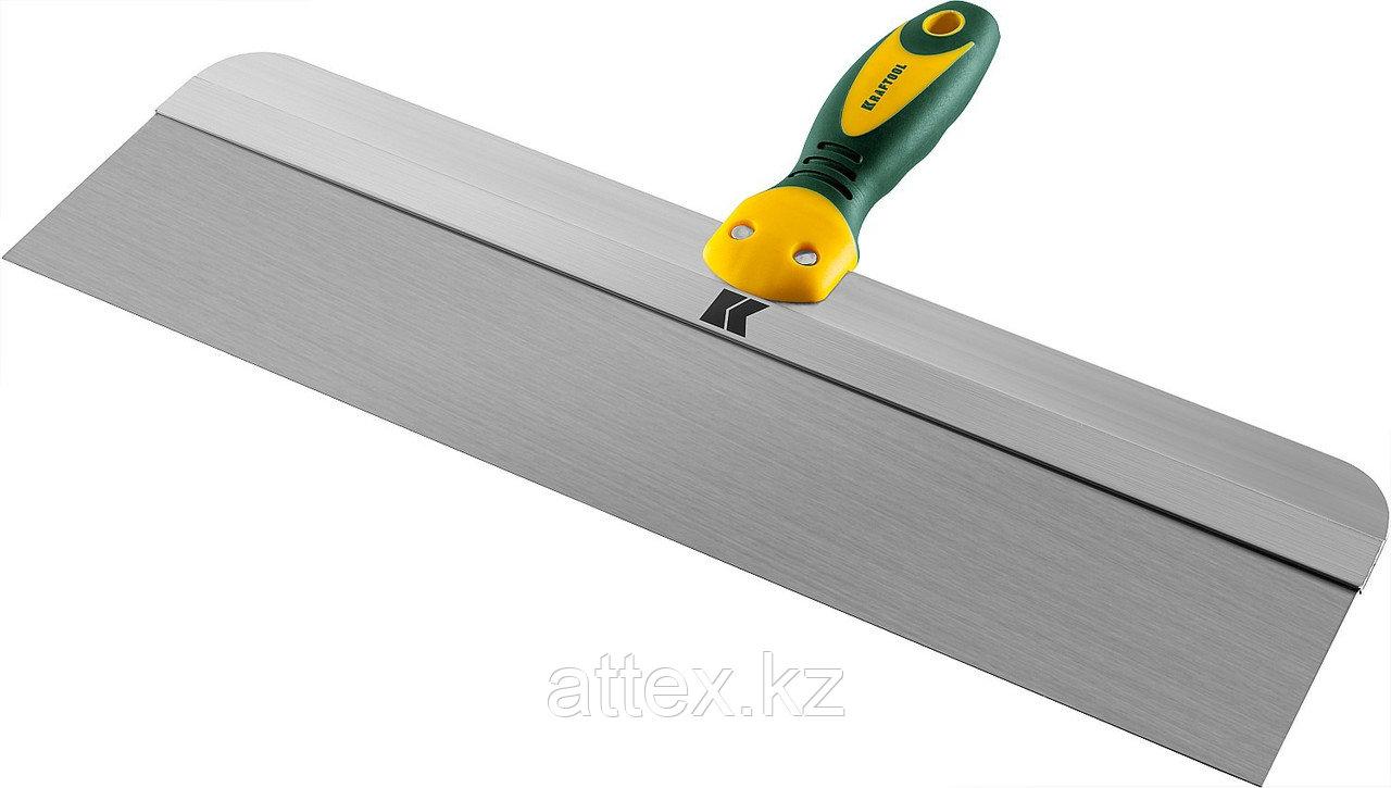 Шпатель KRAFTOOL фасадный с двухкомпонентной ручкой, нержавеющее полотно, 450мм 10036-450